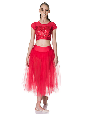 Studio 7, Dream Romantic Tutu Skirt, RED, Adults, ADRS01