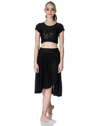 Studio 7, Inspire Mesh Skirt, Black, Adults, ADSK05
