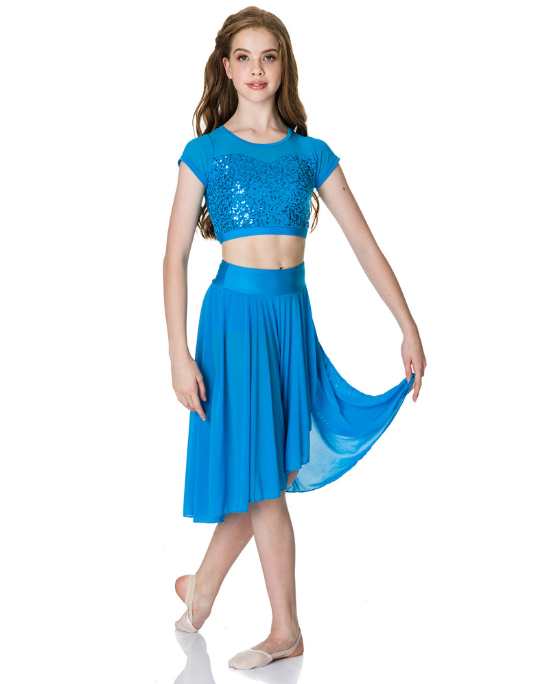 Studio 7, Inspire Mesh Skirt, Turquoise, Adults, ADSK05