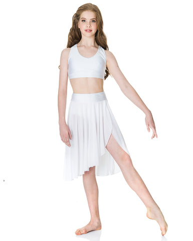 Studio 7, Inspire Mesh Skirt, White, Childs, CHSK05