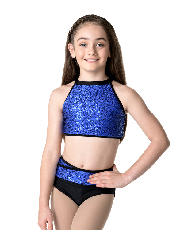 Studio 7, Bright Lights Halter Crop Top, (4 Colours) Childs, CHCT09