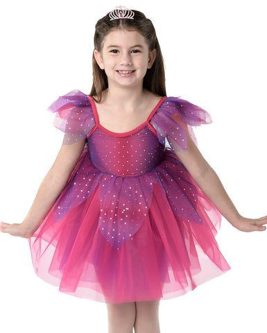 Studio 7, Fairy Doll Tutu (Tiara included), Fuchsia, CHD09