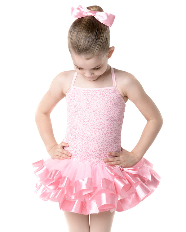 Studio 7, Sherbert Fizz Tutu (Hairbow included), Candy Pink, CHD10
