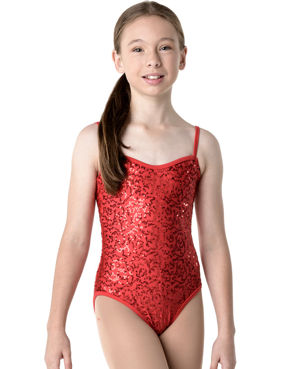 CLEARANCE, Studio 7, Sequin Camisole Leotard, Childs, (6 Colours), CHL02