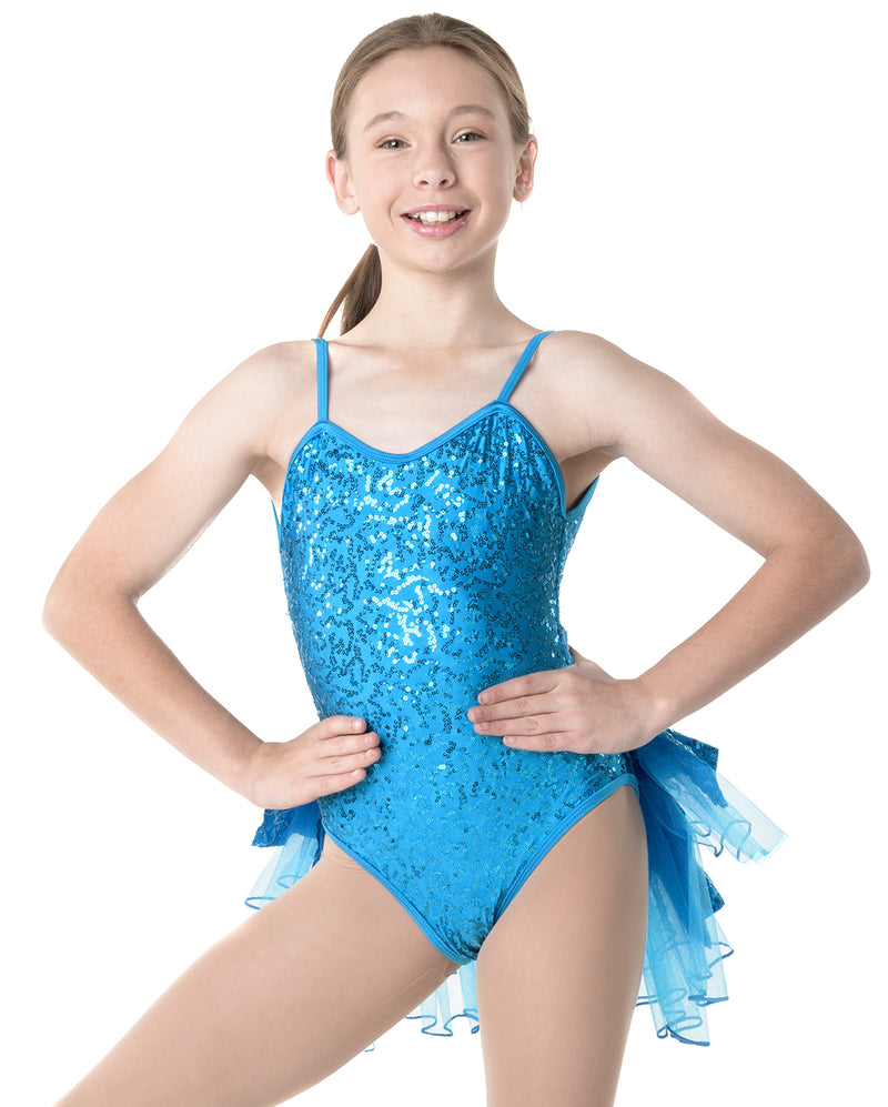Studio 7, Sequin Camisole Leotard, Childs, (6 Colours), CHL02