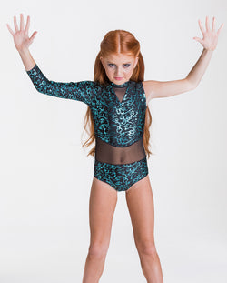 Studio 7, Wild Things Leotard, Adults, EMERALD GREEN/BLACK, ADL04