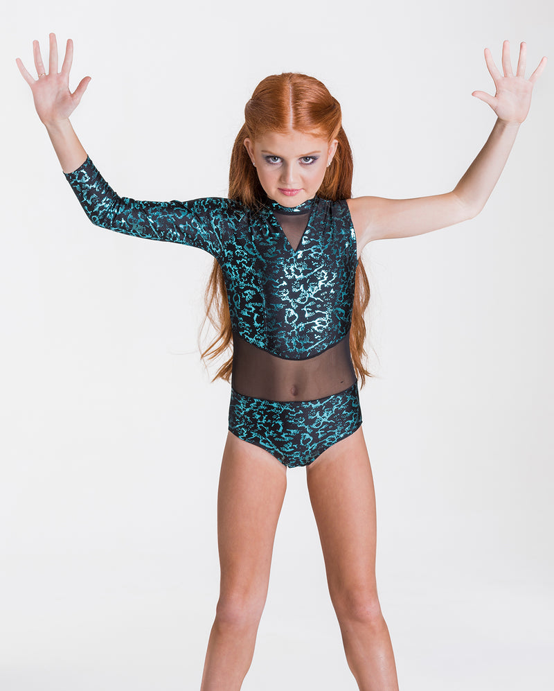 Studio 7, Wild Things Leotard, Childs, EMERALD GREEN/BLACK, CHL04
