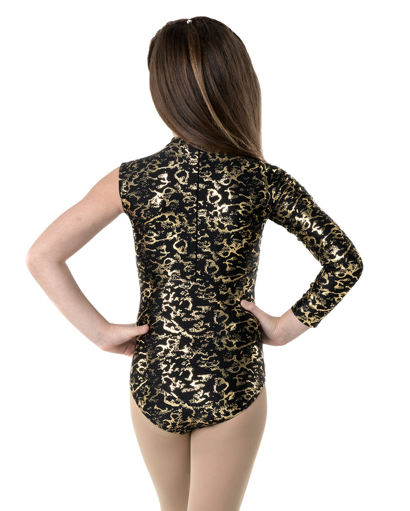 Studio 7, Wild Things Leotard, Childs, METALLIC GOLD/BLACK, CHL04