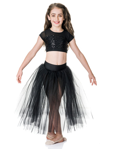 CLEARANCE, of Studio 7, Dream Romantic Tutu Skirt, BLACK, Childs, CHRS01