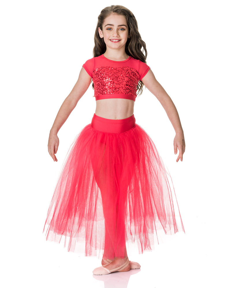 Studio 7, Dream Romantic Tutu Skirt, RED, Childs, CHRS01