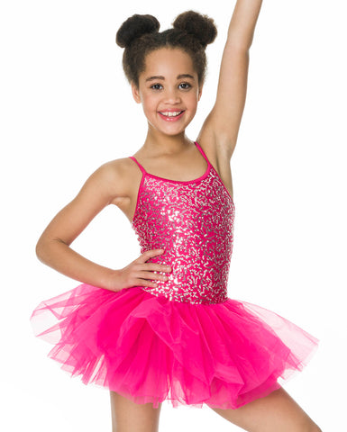 Studio 7, Sequin Tutu Dress, Fuchsia, Childs, CHTU04