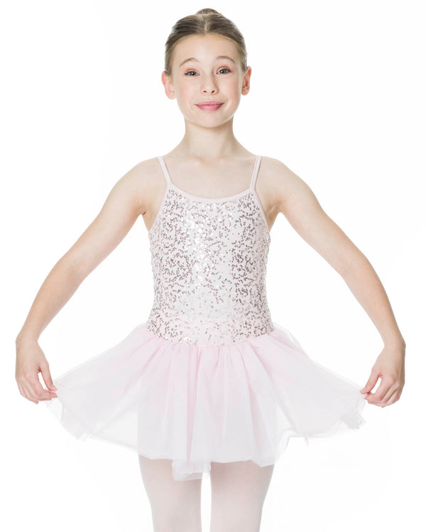 Studio 7, Sequin Tutu Dress, White, Childs, CHTU04