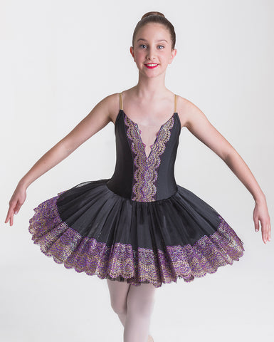 (PRE-ORDER*) Studio 7, Royal Tutu, BLACK/PURPLE, Childs, CHTU15