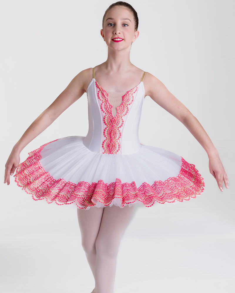 Studio 7, Royal Tutu, WHITE/PINK, Childs, CHTU15