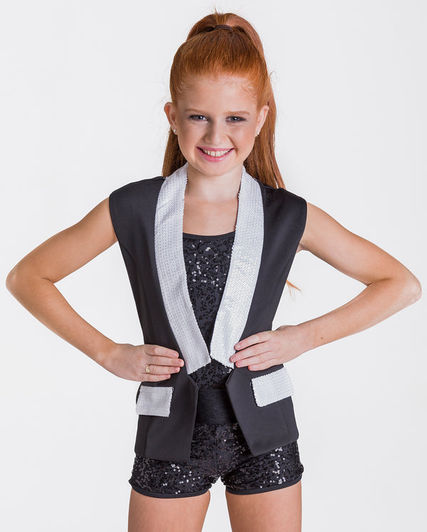 Studio 7, Unisex Sequin Waistcoat, (6 Colours) Childs, CWC01
