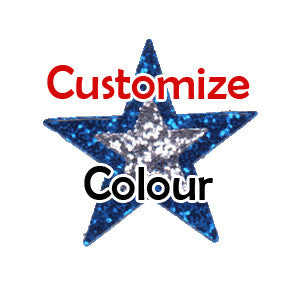 Bling Glitter Stickers, 2 Tone Large Star, 31mm (CUSTOM COLOURS ) POS