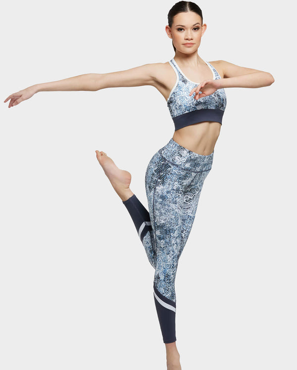 Uactiv, ERIKA LEGGINGS - BLUE WILD LACE, LG105C1