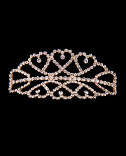 Medium Double Tiara, Gold, 10cm (H40351G)
