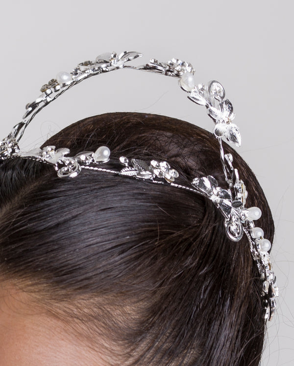Studio 7, Butterfly Comb Headband, Crystal White, HB07