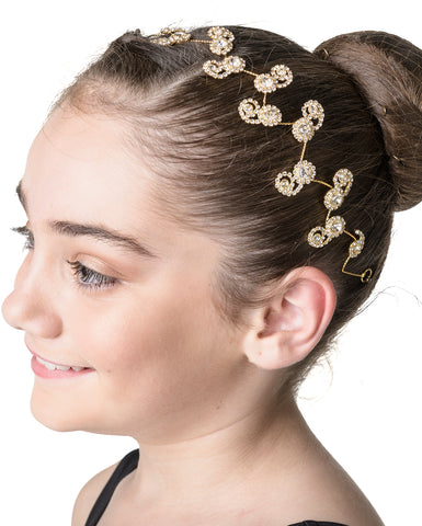 Studio 7, Blossom Sparkle Hairpiece, Gold, HP05
