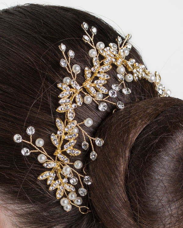 Studio 7, Blooming Sparkle Hairpiece, Gold, HP06