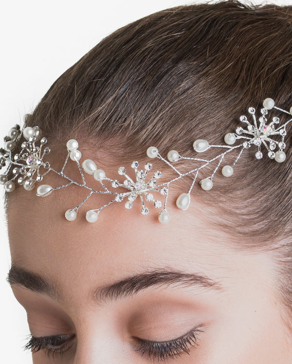 Studio 7, Spring Sparkle Hairpiece, Pearl White, HP08