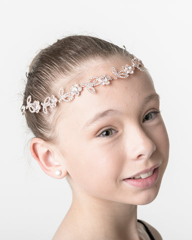 Studio 7, Floral Sparkle Hairpiece, Rose Gold, HP09