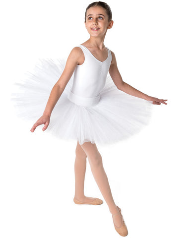 Studio 7 Half Tutu (Practice), White, Childs, CHHT01