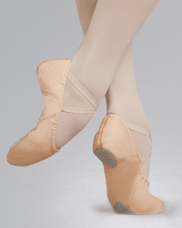 Capezio Leather Split Sole Juliet Ballet Shoe, Light Pink, (size 1-2.5) 2027C