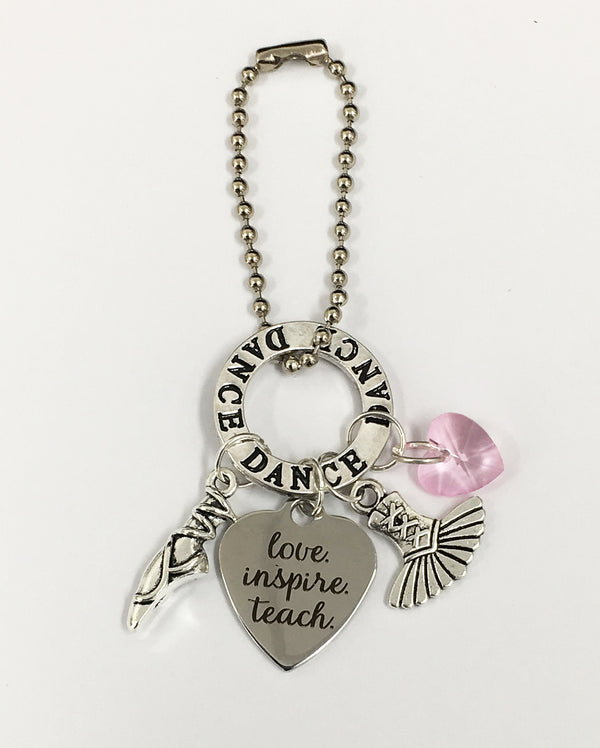 Sparklehearts Keepsake - Dance Teacher (Love Inspire Teach), Pink