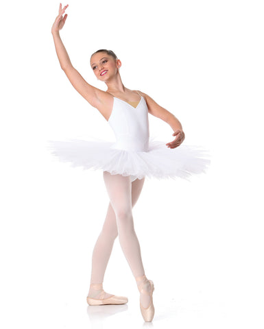 Studio 7, Girls Full Tutu (6 Layer Skirt), White, CHTU02