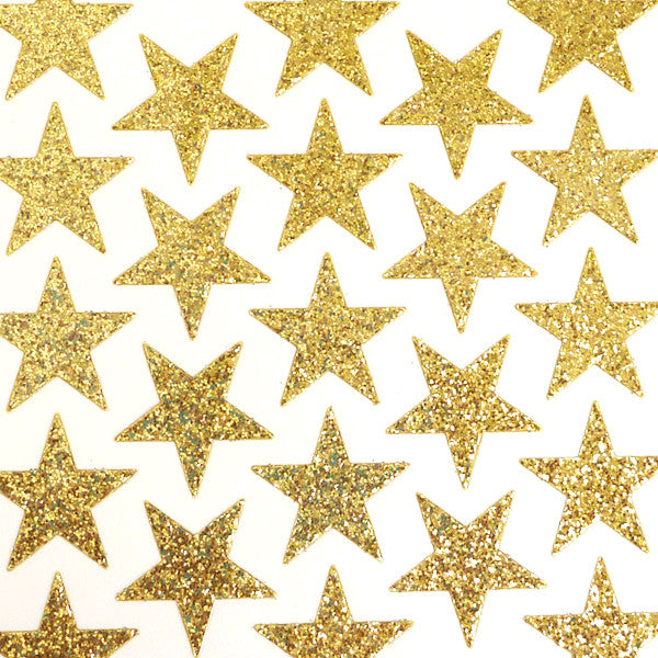 Clearance bling glitter stickers small star sheet mm