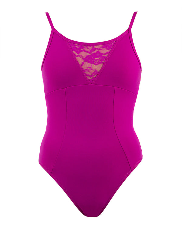 Energetiks Grace Camisole Leotard, Adults, MAGENTA, AL105