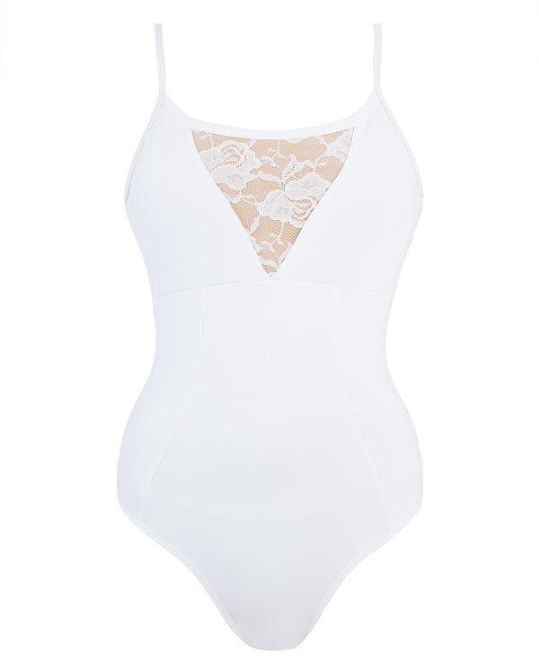 Energetiks Grace Camisole Leotard, Adults, WHITE, AL105