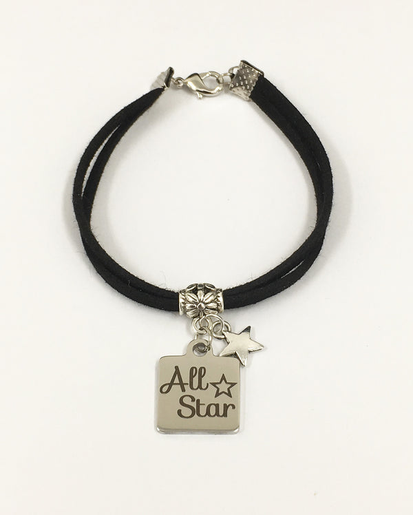 Sparklehearts Double Strap Bracelet - ALL STAR