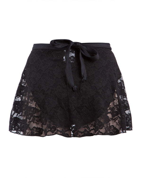 Energetiks Lace Wrap Skirt, Adults, BLACK, AS31