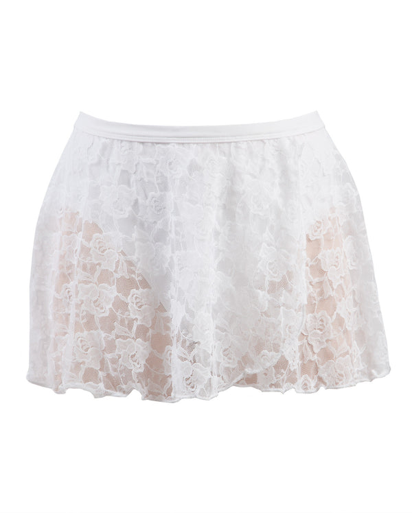 Energetiks Lace Wrap Skirt, Adults, WHITE, AS31