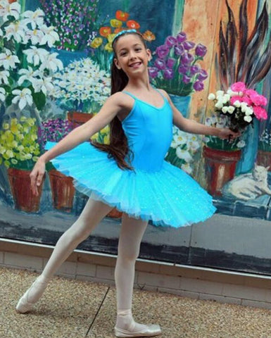 Studio 7, Two Tone Sparkle Tutu, Turquoise/Pale Blue, CHTU03