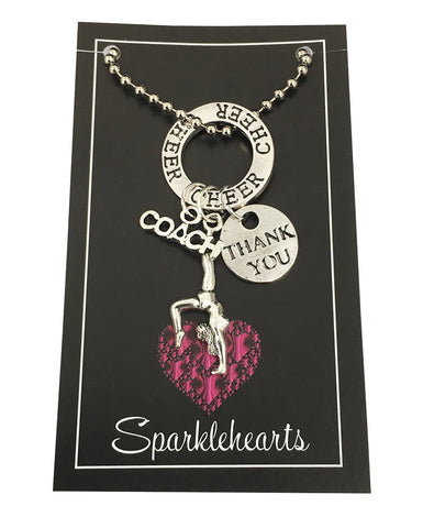 Sparklehearts Keepsake - CHEER COACH (Thank you)