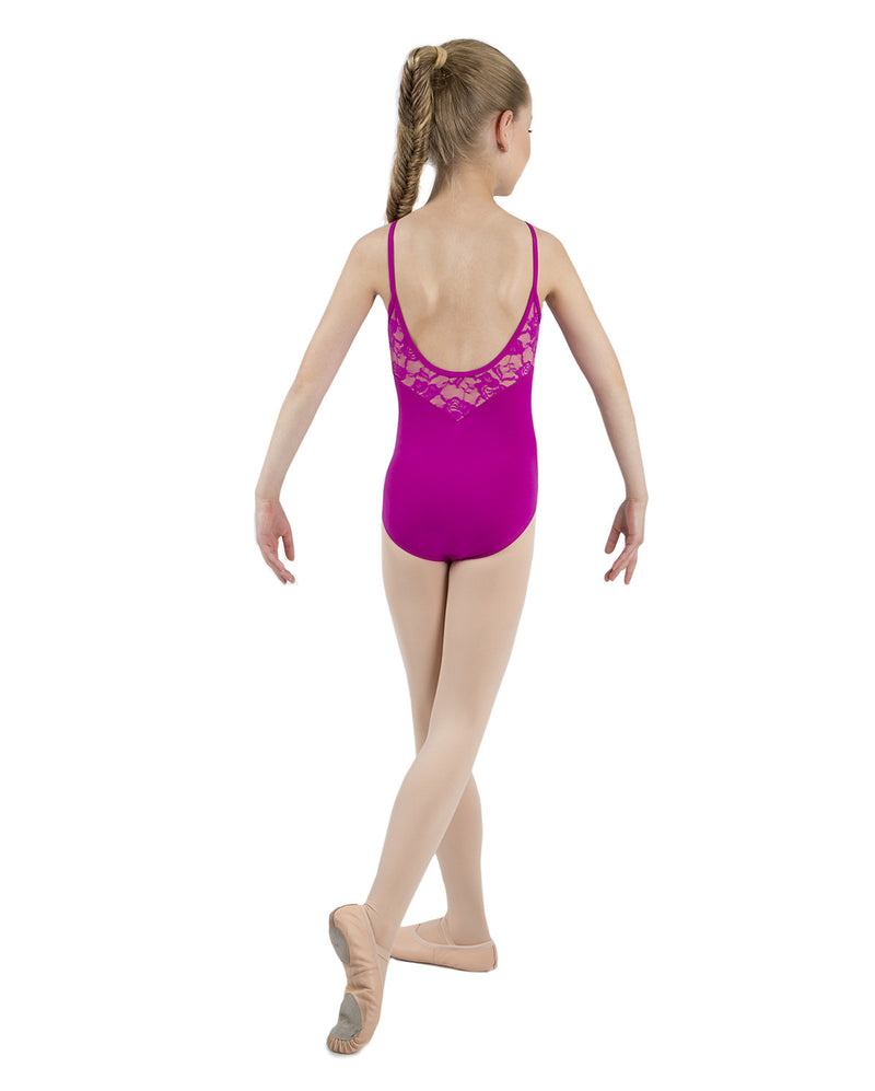 Energetiks Grace Camisole Leotard, Childs, MAGENTA, CL105