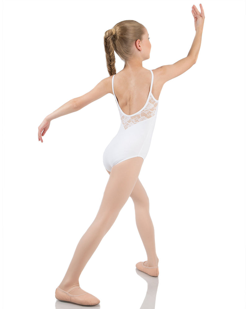 Energetiks Grace Camisole Leotard, Childs, WHITE, CL105