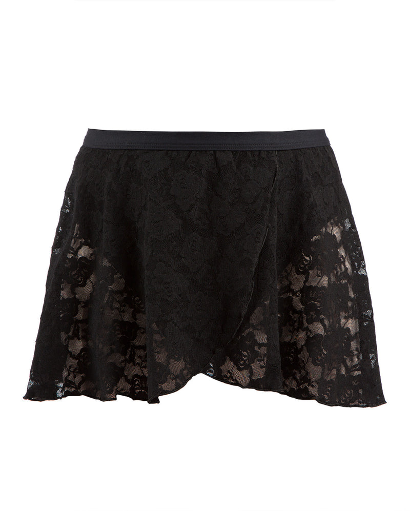 Energetiks Lace Wrap Skirt, Childs, BLACK, CS31