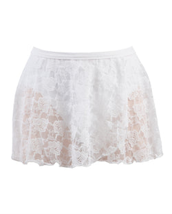 Energetiks Lace Wrap Skirt, Childs, WHITE, CS31