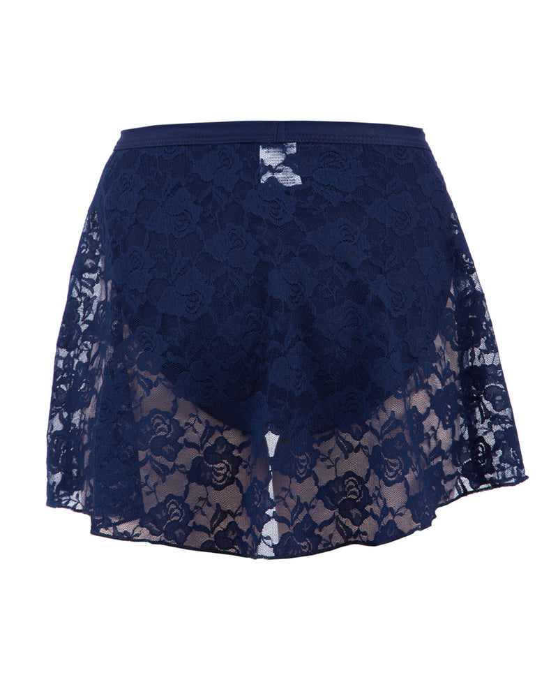 Energetiks Mock Wrap Lace Skirt, Childs, NAVY, CS37