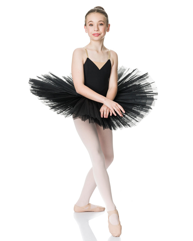 Studio 7, Girls Full Tutu (6 Layer Skirt), Black,  CHTU02