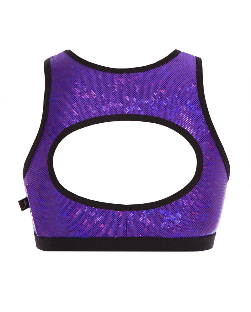 Energetiks 'Shattered Glass' Evelyn Crop Top, Girls, PARTY PURPLE, GCC114