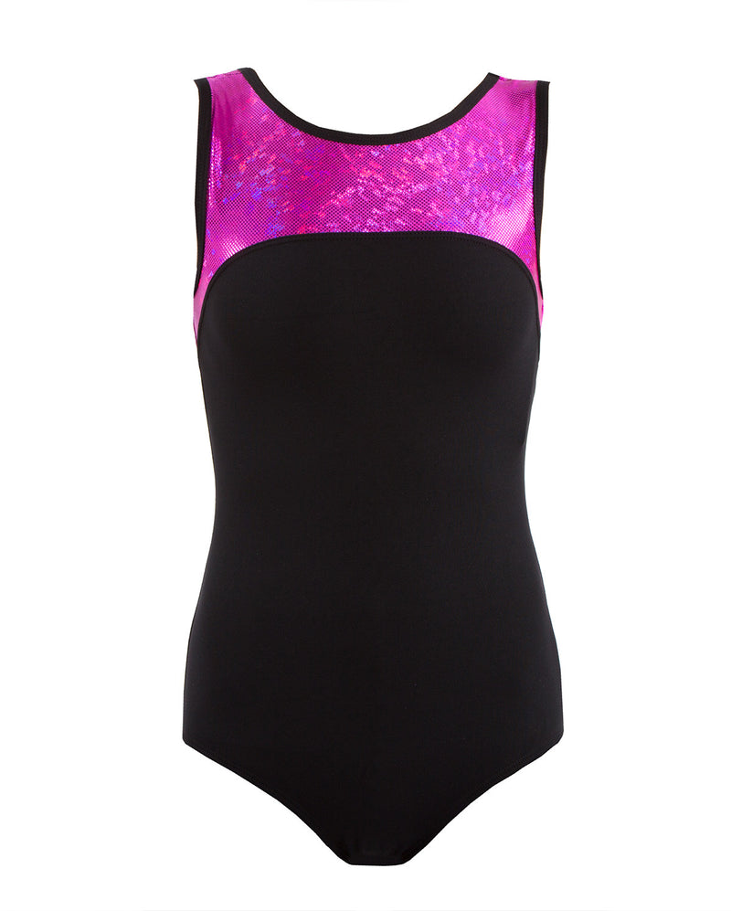 Energetiks 'Shattered Glass' Boat Neck Leotard, Adults, HOT PINK, GAL100