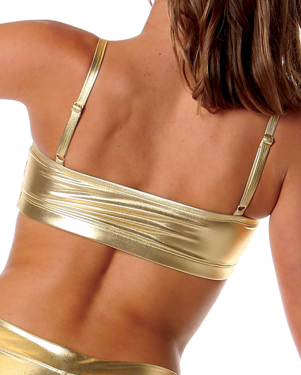 Studio 7 Metallics, Crop Top, Gold, Adults, ADCT02