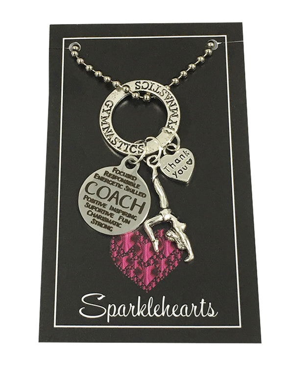 Sparklehearts Keepsake - Gymnastics Coach (Thank you)