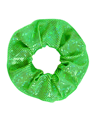Energetiks Shattered Glass Scrunchie, FLUORO LIME, H003G